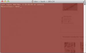 OS X Command Line